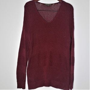 Tommy Bahama oversized burgundy sweater size L